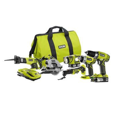 Ryobi 6-Tool Combo Kit 18-Volt ONE+ Cordless Lithium Ion Compact Drill Driver