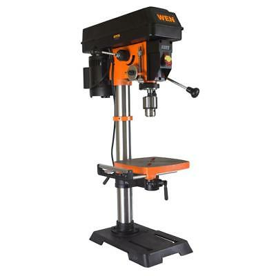 Wen Variable Speed Drill Press Cast Iron Worktable Bevels Powerful Laser 12 in.