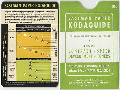 Eastman Paper Kodaguide for Eastman Photographic Papers