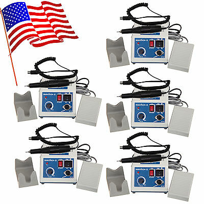 5 Sets Dental Marathon Micromotor Polisher Control + 35K RPM Motor Handpiece USA