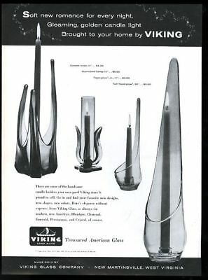 1959 Viking glass modern candle holder 4 styles photo vintage print ad