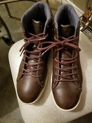 c40f1e696d4f1 Lightly worn Tommy Hilfiger TMTALIS-R men s Brown leather High Top boots sz  13
