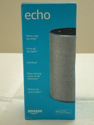 * NEW IN BOX * Amazon Echo 2-Way Smart Speaker 2nd Generation - Heather Gray