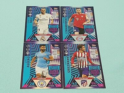 Topps Match Attax Champions League Road to Madrid 19 LE1 bis LE4 Limited Edition