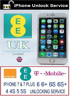 Apple iPhone 5 5C 5S Unlock Code EE ORANGE T-MOBILE UK Express Unlocking Service