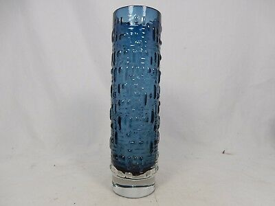 60´s west german Emil Funke design GRAL glass vase # Relief Glas Vase 21 cm