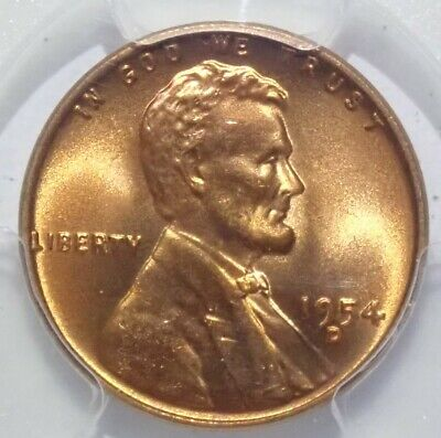 1954-D MS67 RD PCGS Red Lincoln Wheat Cent 1c 1 of ONLY 103 Top Pop None Better