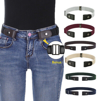 Buckle-Free Elastic Belts Womens Mens Invisible Belt Waist for Jeans Adjustable