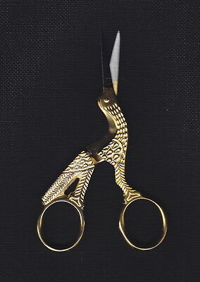 Gold Plated 'Stork' Embroidery Scissors