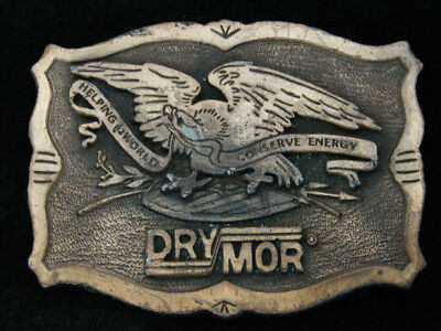RC11102 VINTAGE 1970s **DRYMOR** COMPANY ADVERTISEMENT BELT BUCKLE