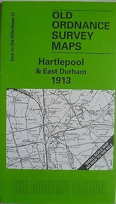 OLD ORDNANCE SURVEY MAPS HARTLEPOOL E DURHAM & Map Trimdon 1913 Godfrey Edition