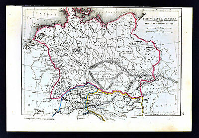 1871 Classical Map - Germania Magna Vendelicia Norticum Ancient Germany Austria