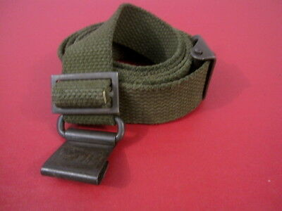 post-WWII US GI M1 Garand Canvas Rilfe Sling w/Hump Buckle - Marked: MRT #2
