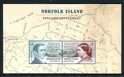 2019 Norfolk Island Pitcairn Settlement - MUH Mini Sheet