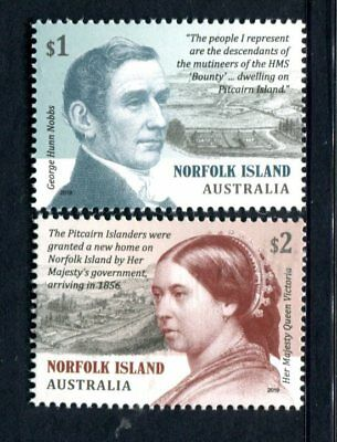 2019 Norfolk Island Pitcairn Settlement - MUH Set of 2 Stamps