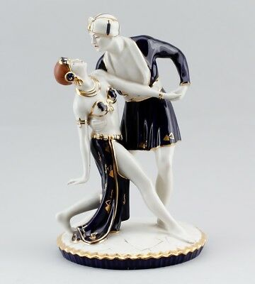 Vintage Royal Dux Bohemia Porcelain Dancing Couple