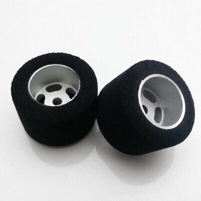 H&R Racing HR1203 27 x 18mm Fish Rubber Tire w/ Wheel 1/8 Axle (2) 1:24 Slot Car