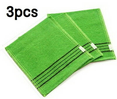Korea Italy Exfoliating Body Scrub Towel 3pcs