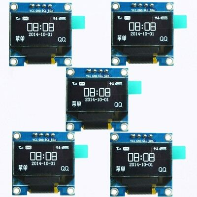 5pcs White 0.96 in I2C IIC Serial 128X64 OLED LCD LED Display Module for Arduino