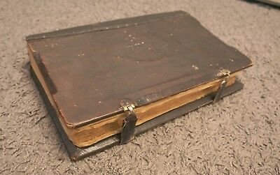 Rare Antique Huge Book with clasps,Russian Orthodox-Zlatoust leather on wood