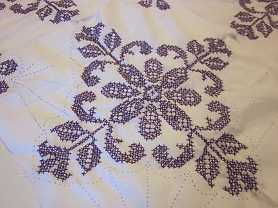 """4 Large Jack Dempsey Quilt Blocks Hand Embroidered 18"""" Squares"""