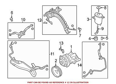 For BMW Genuine Power Steering Cylinder Line Hose Assembly Front 32416853949