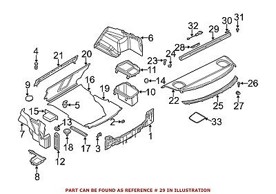 For BMW Genuine Back Glass Sunshade Rear 51468223046