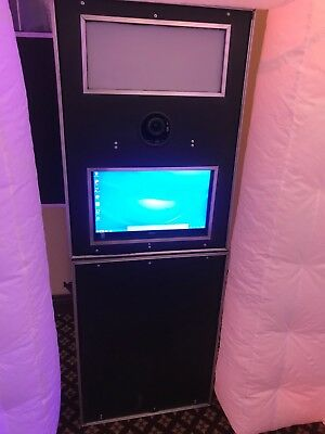 Photo Booth with camera, printer, touch screen computer & LED inflateable Booth