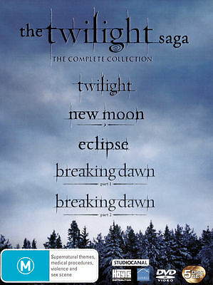 Twilight Saga The Complete Collection 1 2 3 4: Breaking Dawn Pt.1&2 : NEW 5-DVD