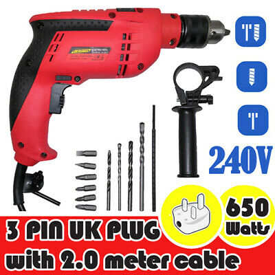 Heavy Duty Cordless Drill Impact Driver Electric Li-Ion Fast Charge 21V Tool Set