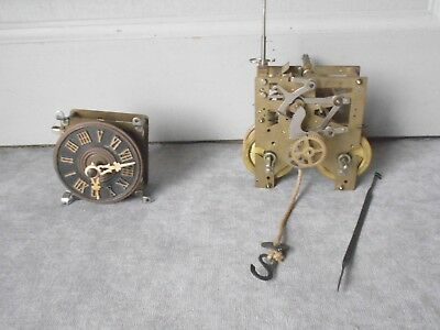 2 Vintage french comtoise cuckoo Clock  Movements parts
