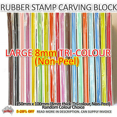 Dual Layer, 7mm Large Craft Rubber Stamp Carving Block, Craft Gift Supplies