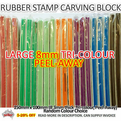 Large Stamp Carving Block 8mm Peel Away Rubber Craft Craft Ink Stamp Supplies