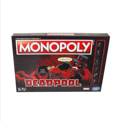 Marvel Deadpool Special Edition Monopoly Board Game Kids Comic Book Super Hero