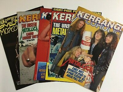 Metallica 1980s – 1990s Lot of 5 Kerrang! Magazine Pull-Out Specials U.K. Ulrich