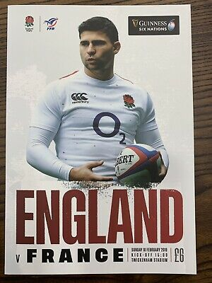 NEW GUINESS SIX NATIONS 2019 ENGLAND v FRANCE Rugby Union Programme £6 10/02/19