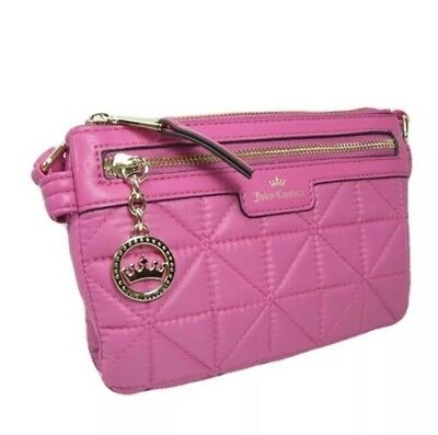 c71b34b240 NWT JUICY COUTURE Quilted Crossbody Bag Wallet Hot Pink Retail $55 ...