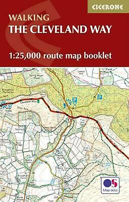 Cleveland Way Map Booklet: 1:25,000 OS Route Mapping by Paddy Dillon Paperback B