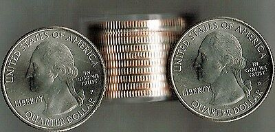 2019 Roll of 10 Brilliant Uncirculated Lowell National Park 5 X P & 5 X D's 25C
