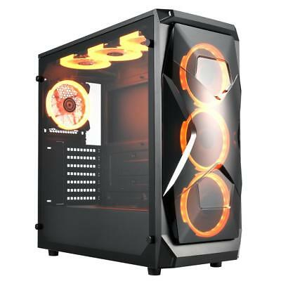 Apexgaming X1 ATX Mid Tower Computer Case Tempered Glass Window Side Panel