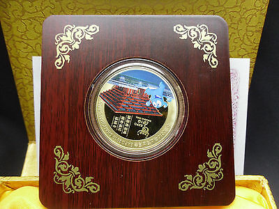 2010 GOLD PLATED COIN~SHANGHAI CHINA EXPO~CHINA PAVILLION w CERTIFICATE & BOX