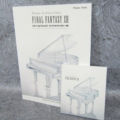 FINAL FANTASY XIII 13 PIANO COLLECTIONS Art Set Score w/CD Music Book
