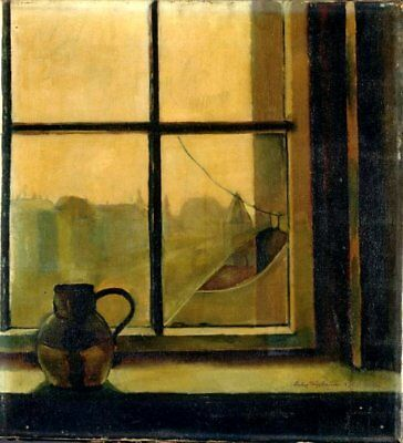 Handmade Oil Painting repro  Felix Nussbaum Jug at the Window