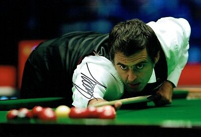 Ronnie O'SULLIVAN 2016 SIGNED Autograph 12x8 Photo A AFTAL COA Snooker Champion