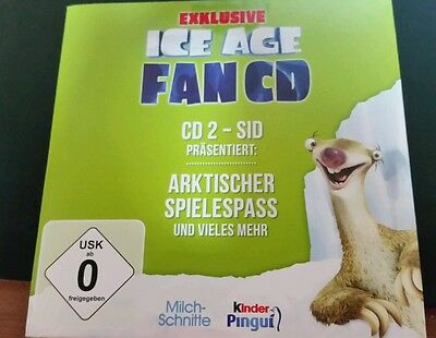 Exklusive Ice Age FAN CD 2 - SID kinder Pinguin Milchschnitte (2012) ☆
