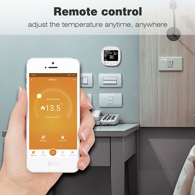 7-Day Programmabili Intelligente Wifi Termostato Digitale Touch Screen Mobile