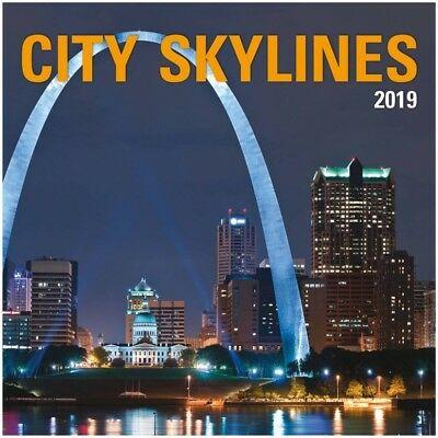 2019 City Skylines Wall Calendar, Globetrotter by Wells Street by LANG