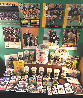 Pittsburgh Steelers NICE! Players colletbls lot 320 Franco Rocky Ham Lambert +++