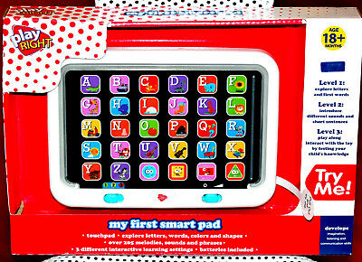 NEW Learning Smart Tablet pad Baby Kids Toys Preschool Toddler Toy Game laptop