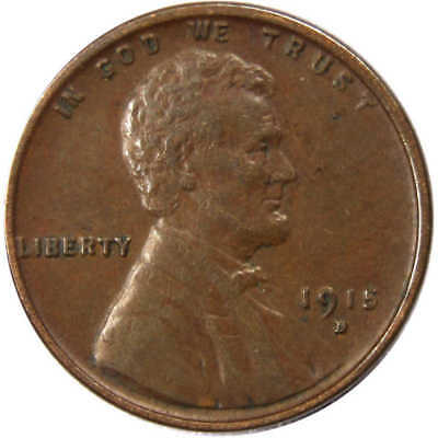1915 D Lincoln Wheat Cent Penny XF,EF-Extra Fine